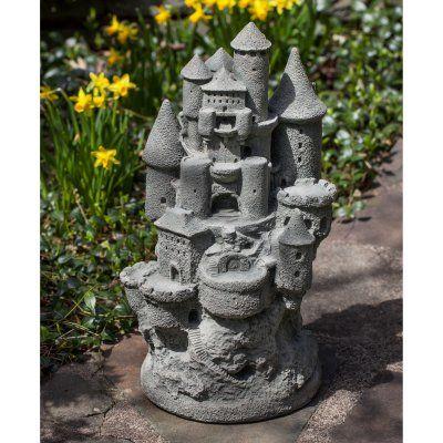 Campania International Fairy Castle Cast Stone Garden Statue - S-488-VE