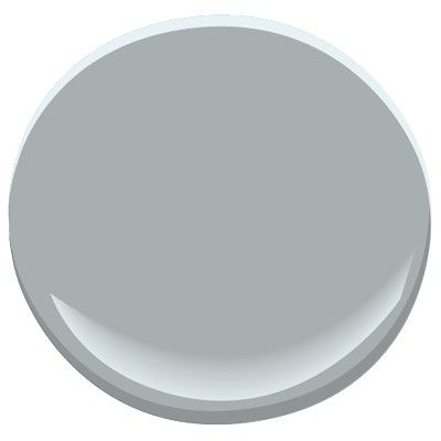 Benjamin Moore Gull Wing Gray - also goes well with dark brown