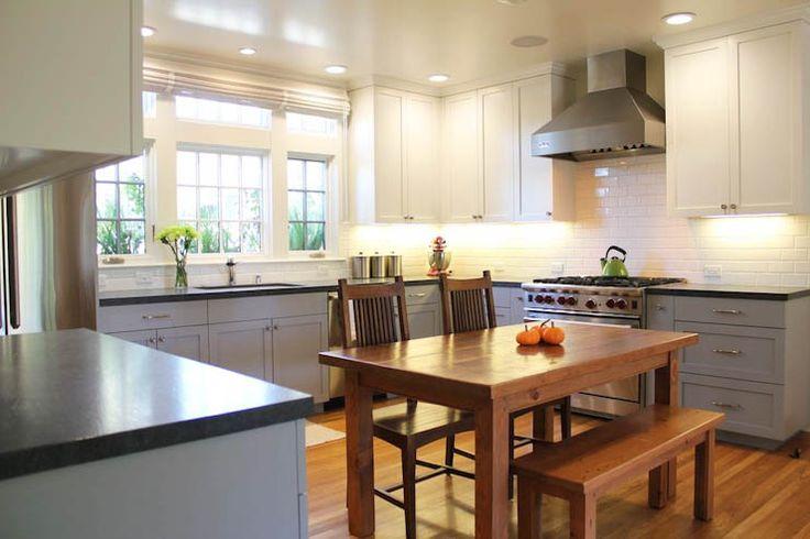 small u shaped kitchen layout _ two tone cabinets | matt's kitchen