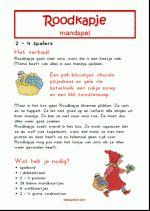 Mandspel Roodkapje - Verhaal + spelregels