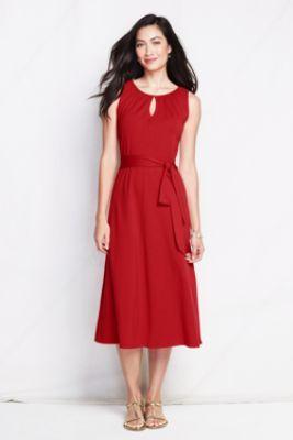 Women's Cotton Modal Keyhole Dress from Lands' End