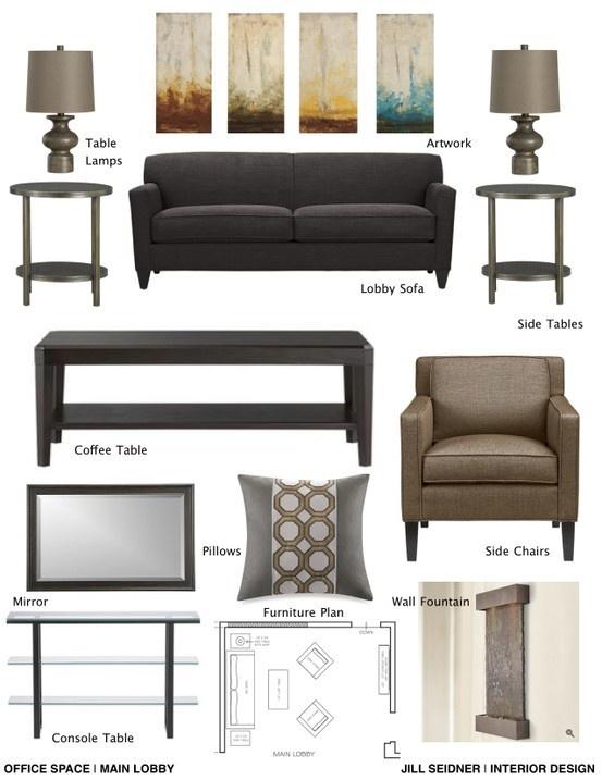 Concept board for therapist office. jill-seidner-interior-design-concept-boards
