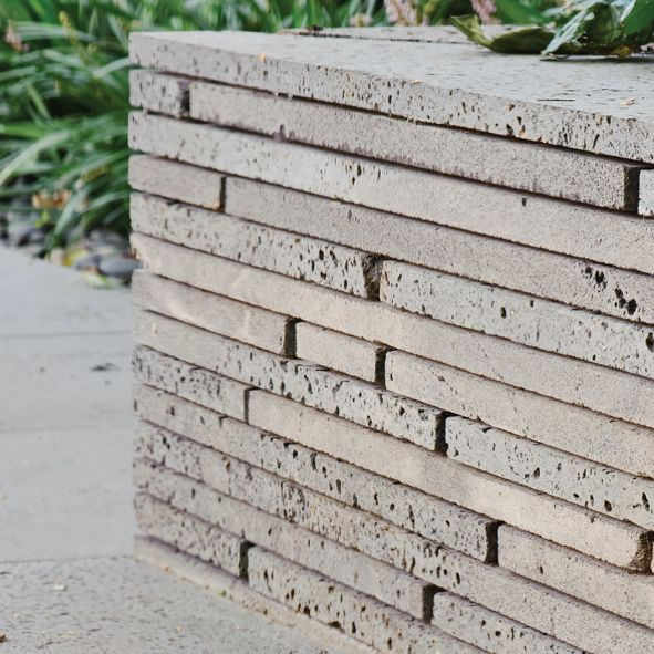 Stacked Bluestone Retaining Wall