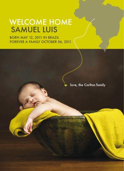 International adoption birth announcement...LOVE this!: Births Announcements, Cute Ideas, International Adoption, Baby Announcements, Announcements Ideas, Future Baby, Adoption Announcements, Baby Girls, Baby Stuff