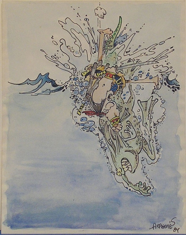 Groo - early watercolour