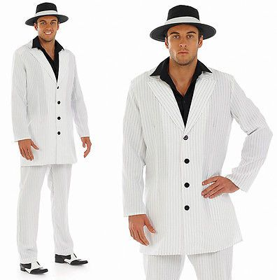 Mens #white gangster #fancy #dress costume al capone suit pimp outfit m-xl,  View more on the LINK: http://www.zeppy.io/product/gb/2/291710180484/