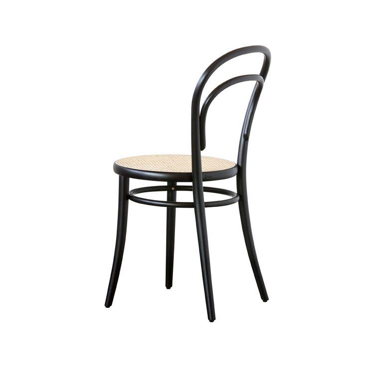 Ton Chair  no.14 - svart, rotting sits