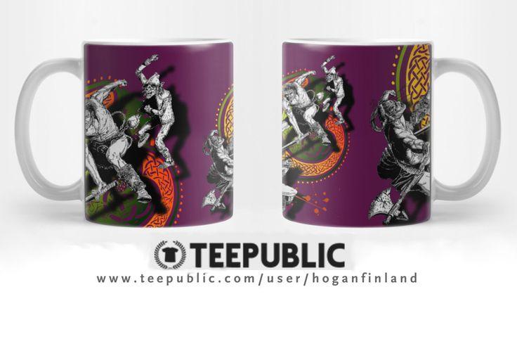...20% off on this mug design at Teepublic while offer lasts. @teepub #teepublicmugs #teepublic #mugs #fantasy #battles #sword #axe #celtic #nordic #mythology #fight #cup #cups #drink #coffeemugs #mugoftheday #tea #hoganfinland #hoganart #hogandesign #homedecor #household #products #kitchenwear