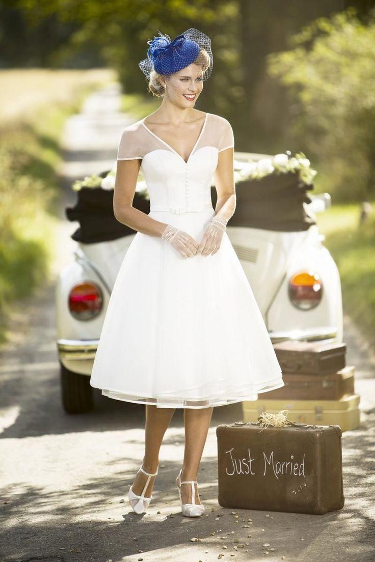 Tea Length Bridal and 50's Style Short Wedding Dresses | Brighton Belle | Billie | True Bride