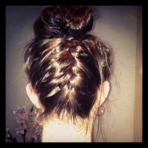 braiding hair styles for girls 17 best images about top knots on updo 9606 | fda63b7accbb9340e8d675b3e5a9606d