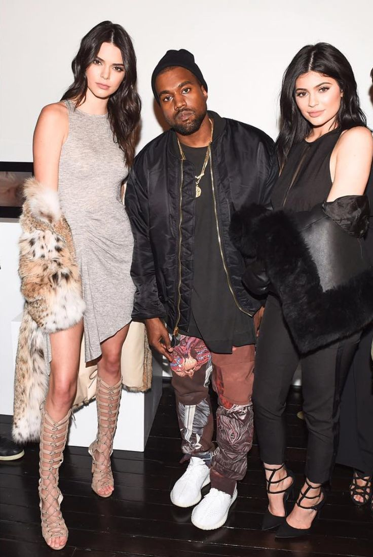 Kanye west with kylie kendall wears alpha industries jacket maison margiela pants and new