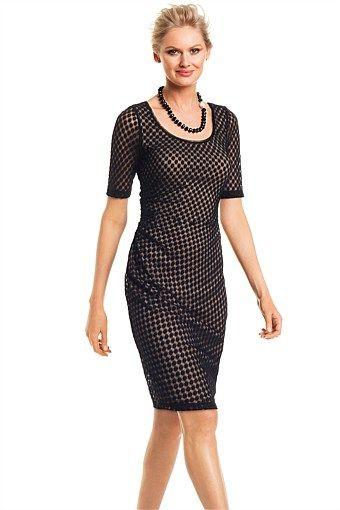 Dresses | Buy Women's Dresses Online - Grace Hill Ruched Spot Shift