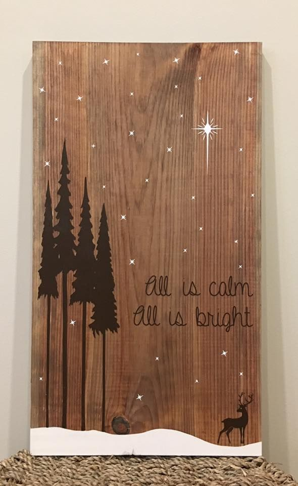 Custom handmade wooden sign for Christmas. Visit our Facebook page at www.facebook.com/PepperCreekCraftsmanCo