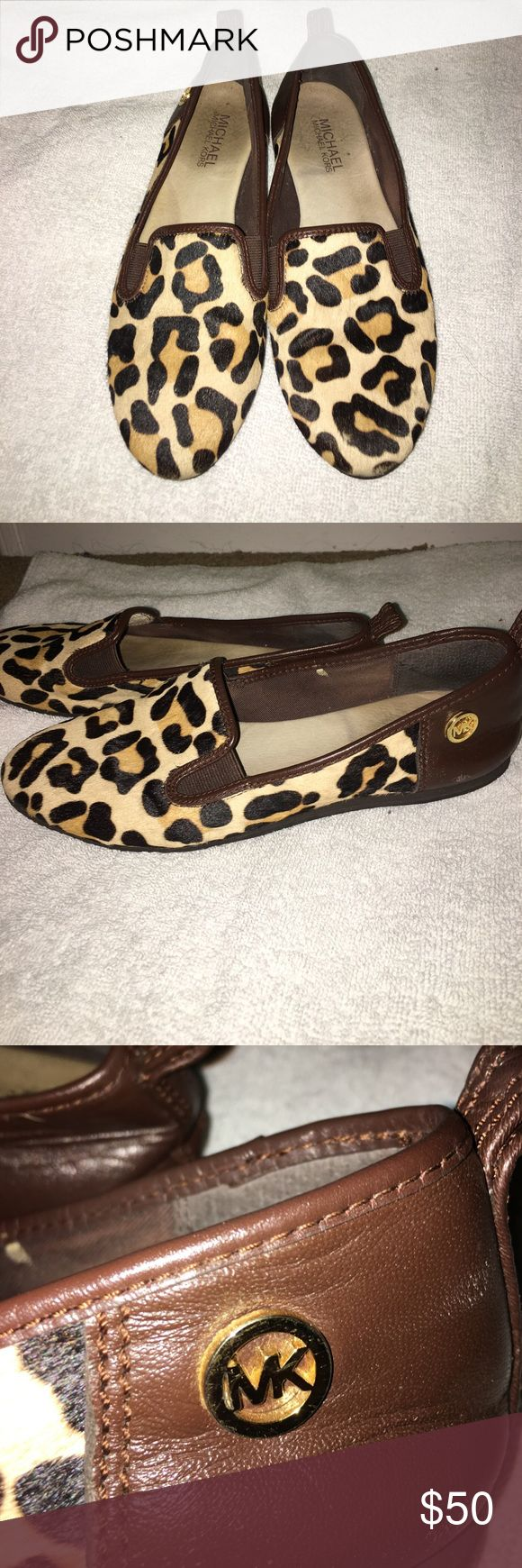 Michael Kors cheetah flats Fashionable Michael Kors flats! Very comfy! In good condition! Michael Kors Shoes Flats & Loafers