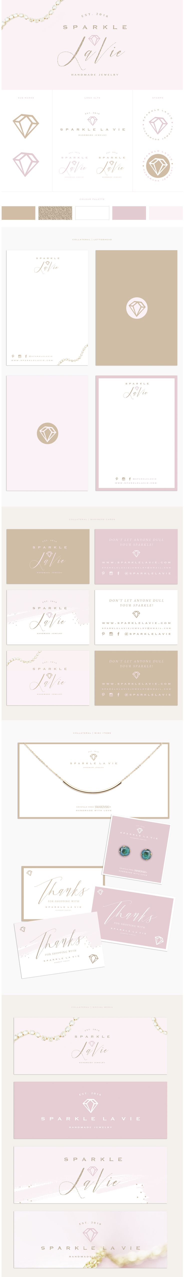 Custom Brand Design / Logo Design / Branding Board / www.brandmebeautiful.co.uk / enquiries@brandmebeautiful.co.uk / #logo #branding #design #pink #gold #glitter #purple #diamond #jewellery #jewelry