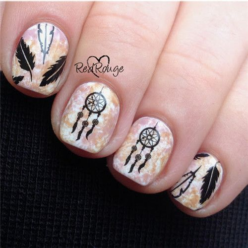Sticker Dream Catcher Nail Art Water Decals Transfer Nail Art Stickers 3D