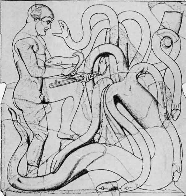 Herakles und die Lernäische Hydra, Zeus Tempel, Olympia