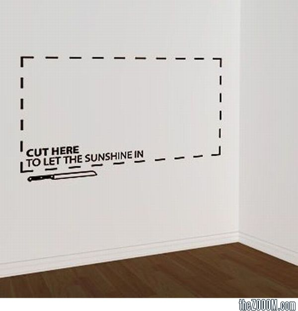 Cut Here To Let The Sunshine In