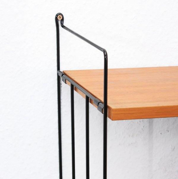 sideboards + regale 60er modulares Wandregalsystem, Nussbaum (Nr. 4810-B) Karlsruhe Velvet-Point
