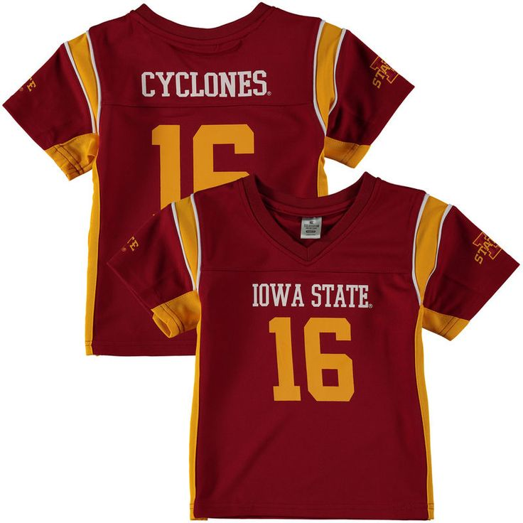 #16 Iowa State Cyclones Colosseum Youth Football Jersey - Cardinal
