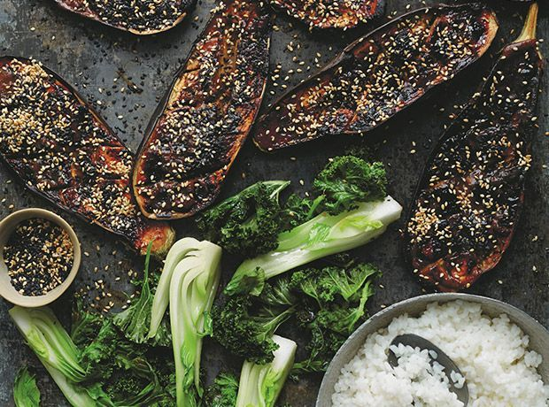 Honey And White Miso Aubergines | Chef, writer and food stylist Anna Jones shares a new collection of over 150 inspiring vegetable-centric recipes in her second book, A Modern Way to Cook.