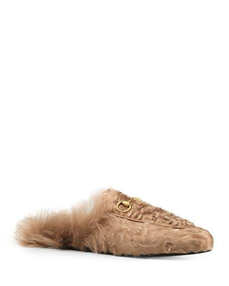 3d8c992e870 Gucci 10mm Princetown Shearling Fur Loafer