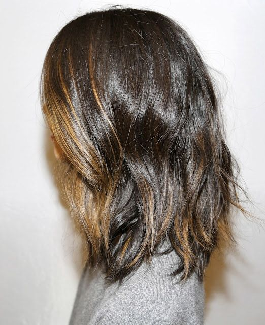 Dark brown with highlights. MOM I KNOW HOW I WANT MY HAIR