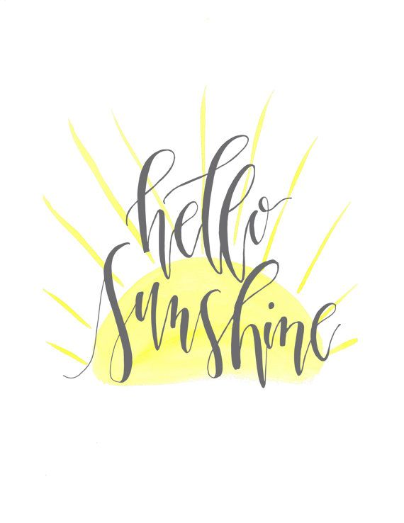 Hello Sunshine digital print by ThePastelRose on Etsy