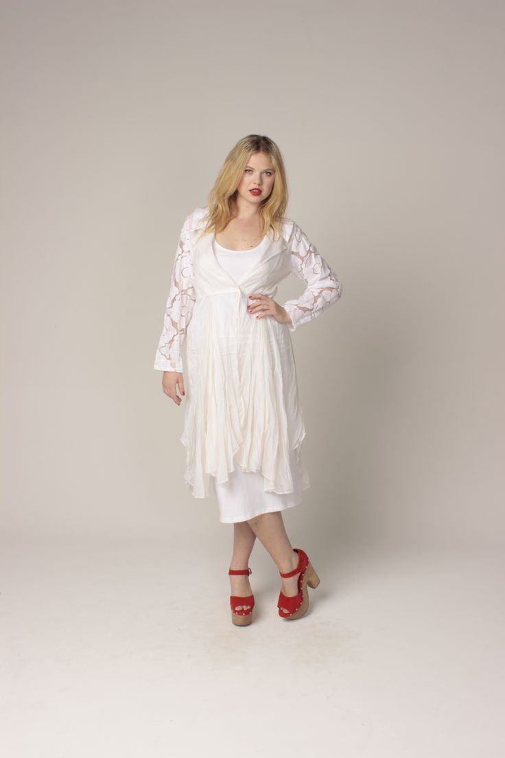 TCD spring 13 - posey duster and long labella. curvy summer fashion. size 12 -24.