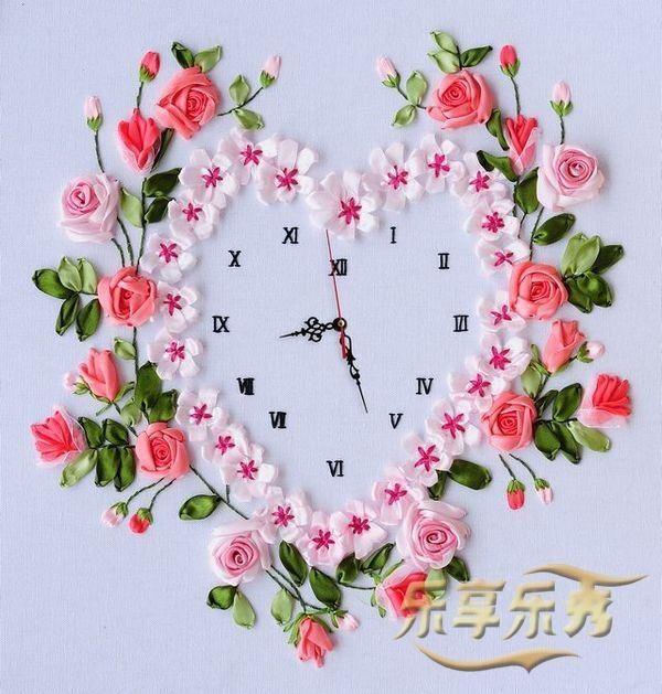 kurdele nakışından saat modeli