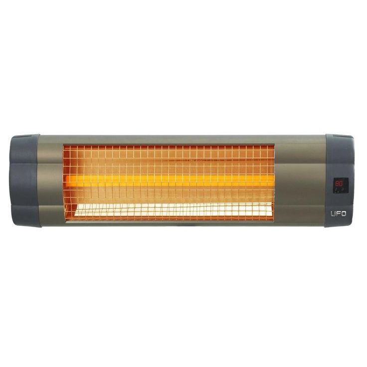 1500 Watt 110 Volt Electric Mid-Wave Infrared Heater Unit with Remote