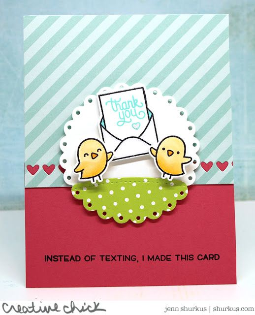 the Lawn Fawn blog: A Charming Set of Love Letters Cards by Jenn