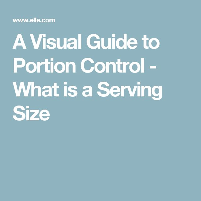 what is a food guide serving