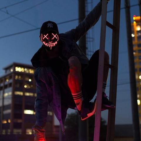 Night Huntsman Mask™ in 2019 | Aesthetics | Purge mask, Glow mask