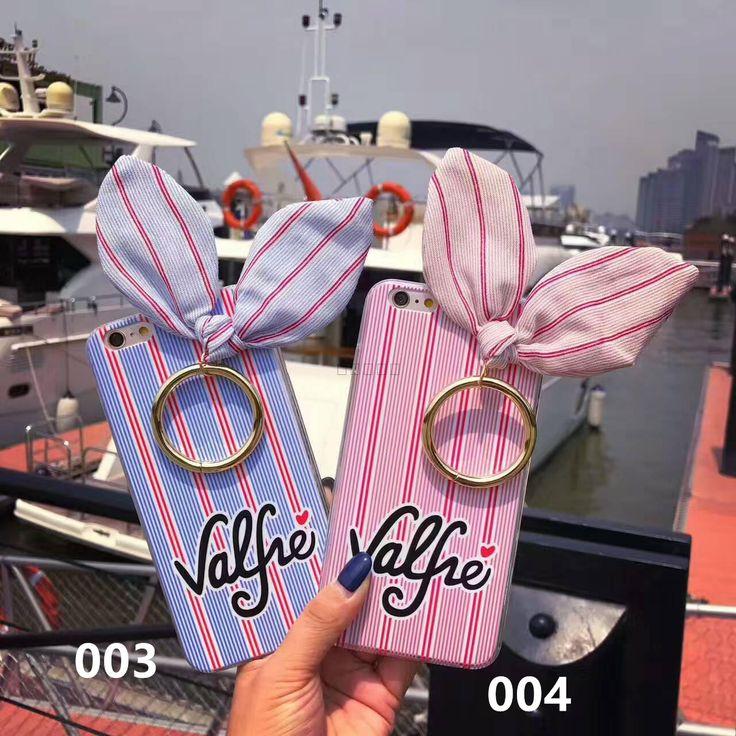 iPhone7 兎耳ケース valfre iphone6s plus 可愛いケース ブランド ヴァルフェー アイフォン7 プラスケース 布製 リング付き