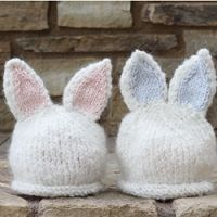 (TP) Baby Knit Bunny Hats