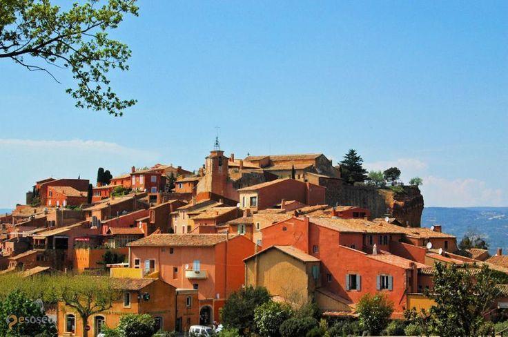 Руссильон – #Франция #Прованс (#FR_U) Побывав во французском Руссильоне и его окрестностях, вы уже никогда не спутаете охру ни с одним другим цветом! http://ru.esosedi.org/FR/U/1000084180/russilon/