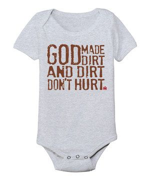 This International Harvester Athletic Heather 'God Made Dirt' Bodysuit - Infant by International Harvester is perfect! #zulilyfinds