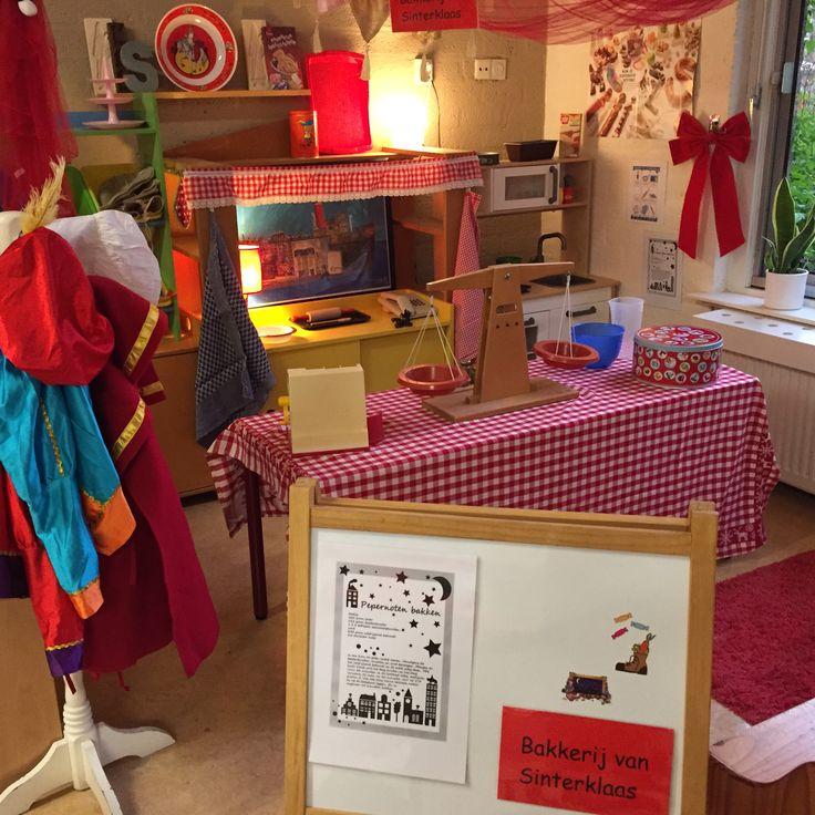 Bakkerij van Sinterklaas in de huishoek gedurende de sintperiode!