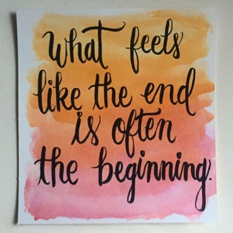 ⠋what feels like the end is often the beginning⠙