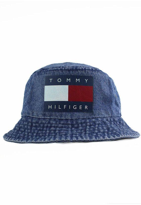 Vintage Tommy Hilfiger Bucket Hat by AgoraSnapbacks on Etsy, $29.99