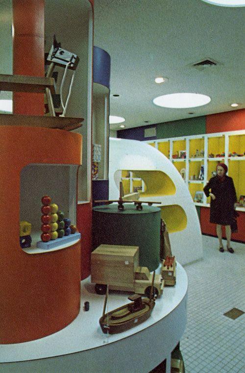 Childcraft Store Interior, New York By Milton Glaser (1970)