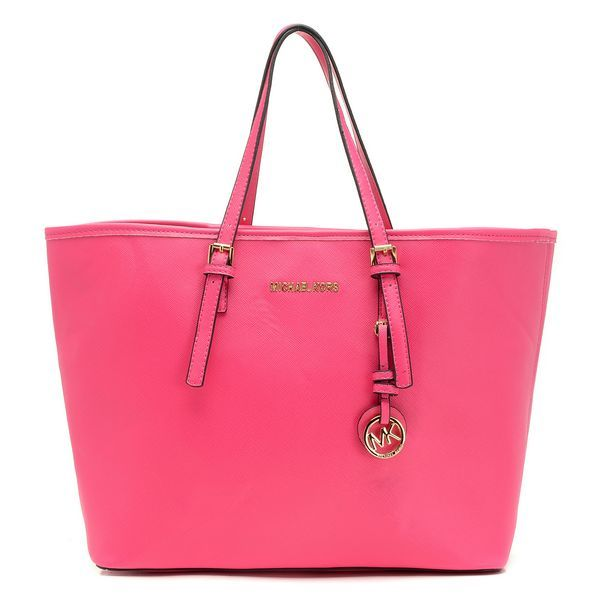 MICHAEL Michael Kors Jet Set Small Saffiano Travel Tote Pink