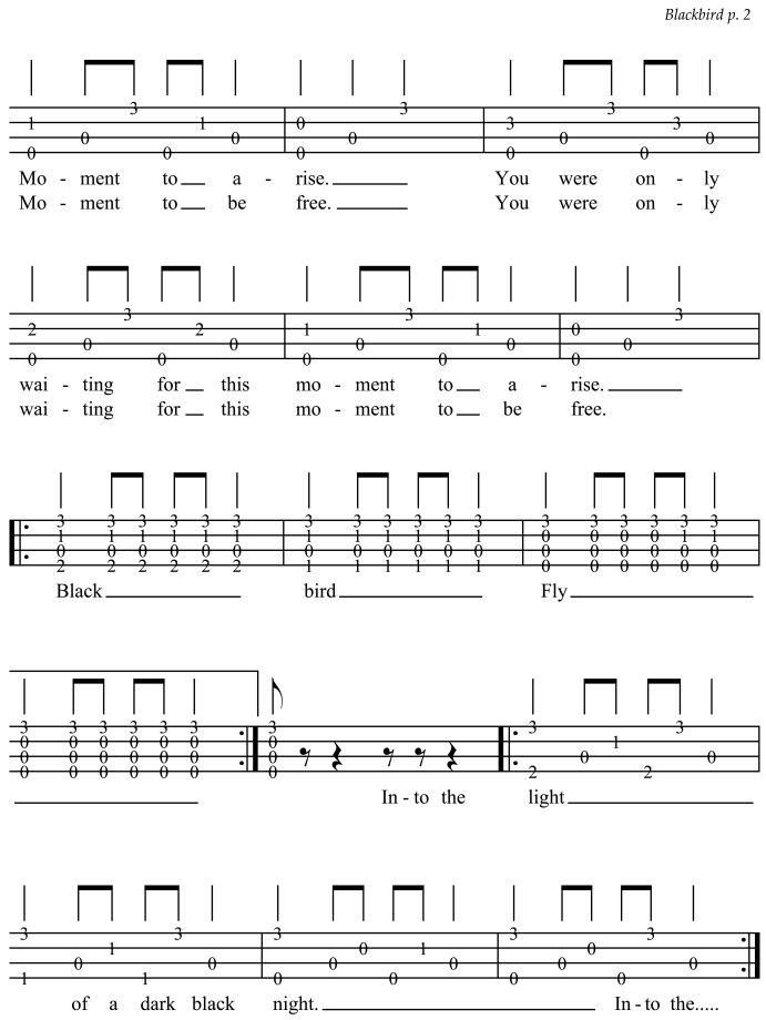 Paul Mccartney Blackbird Chords