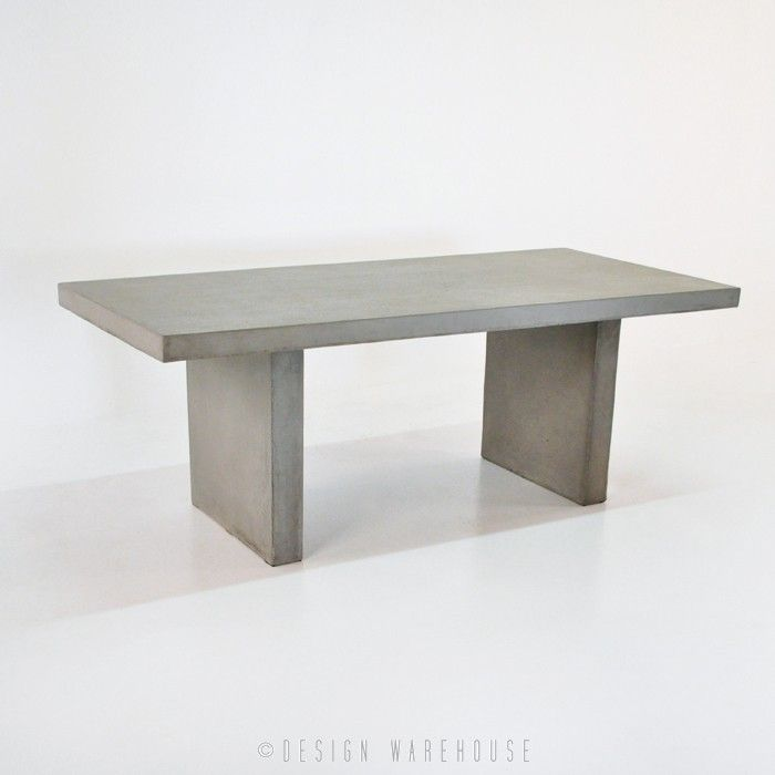 Raw Concrete Rectangle Dining Table   Dining Tables   Dining