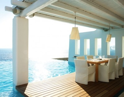 Cavo Tagoo hotel is located in Mykonos Island in Greece and it is owned by an award-winning architect Paris Liakos.