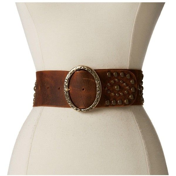 Leatherock 1208 (Kodiak Tobacco) Women's Belts (9.475 RUB) ❤ liked on Polyvore featuring accessories, belts, studded leather belt, wide buckle belt, leatherock, studded belt and wide leather belt