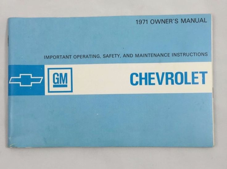7 best cars owners manual images on pinterest owners manual 1971 original chevrolet owners manual excellent condition fandeluxe Gallery