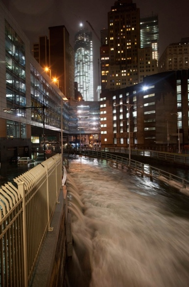 A deluge of water floods the Battery Tunnel in Manhattan as Hurricane Sandy made its approach in New York October 29, 2012.