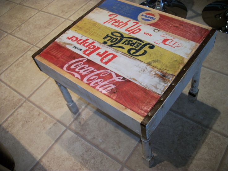 Check out this awesome soda crate table on ebay, best offers accepted, follow the link- http://www.ebay.co.uk/itm/251291148218?ssPageName=STRK:MESELX:IT&_trksid=p3984.m1555.l2649